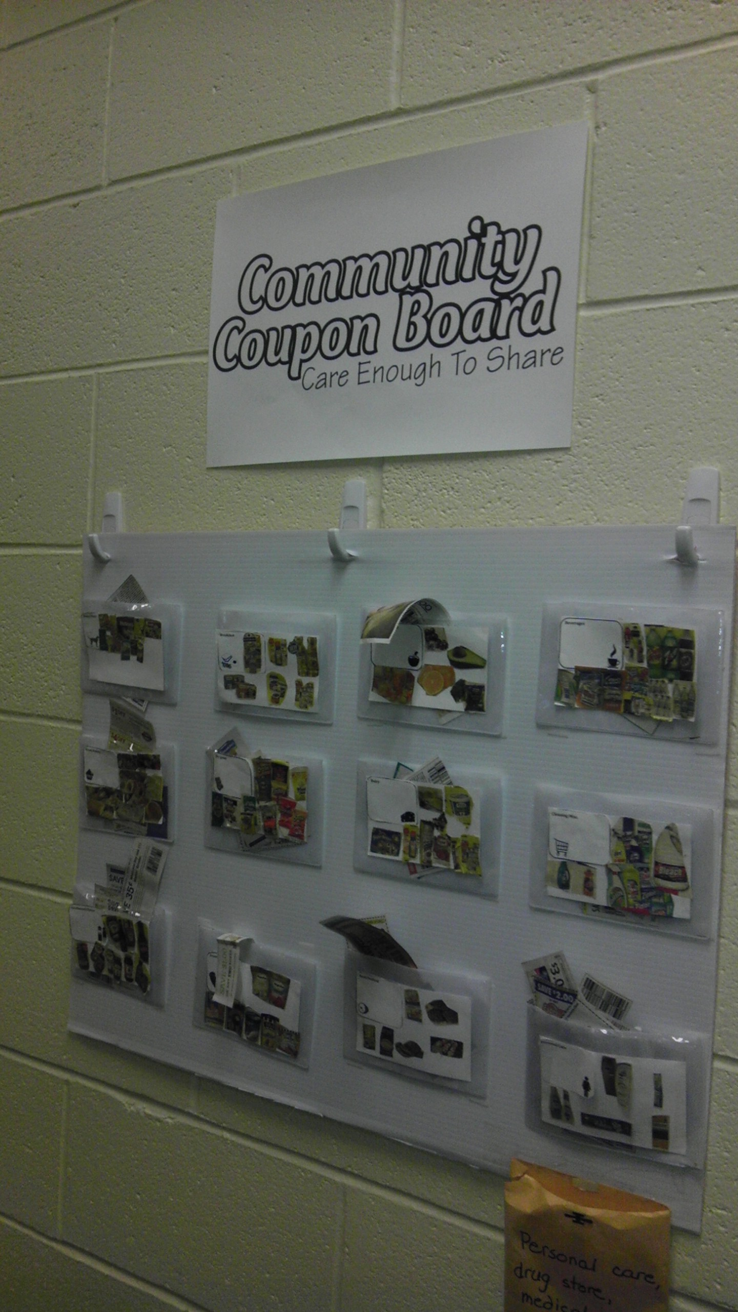 Community coupon board.  I'm stealing this!